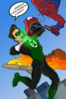 Hal vs Manhunter by HeroOfZeros