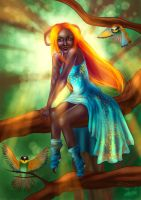 Queen of the Birds by Lodchen