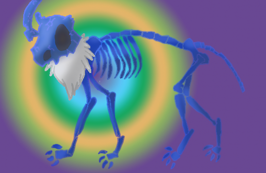 Cubone Absol Skeleton by umbrephlosion