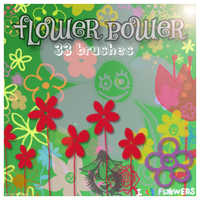 Flower Power brushes by brushesfreedow