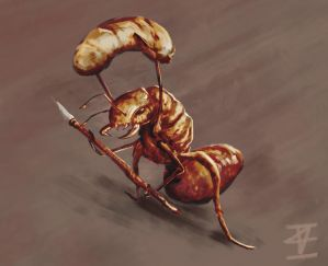 Soldier ant by ImanuelViczzz