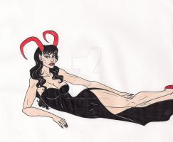 Demoness in Black by 13foxywolf666