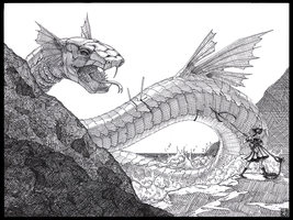 Sea Serpent by Gryphon-Shifter