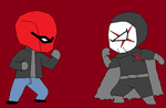 Red X vs Red Hood (Bloody Red Anti-hero fight) by CamiloSama