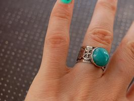 ring silver sterling with amazonite by honeypunk