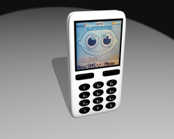 Mobile Phone - white by ToaTs3D