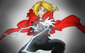 Edward Elric Alchemy - Colour by ParagonNero