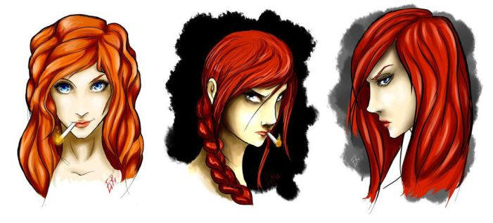 Redhair girl by sharrm