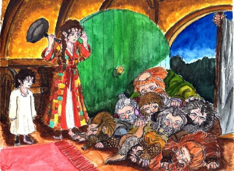 Fem!Bilbo: Unexpected company comes to the door. by WolfWarrior9