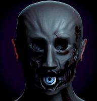 Zombie skin shader test 02 by TeXual