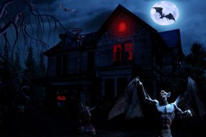 Halloween at the Masters House by ForeverBigBlue68