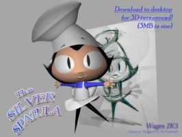 The Silver Spatula in 3D by Bensaret