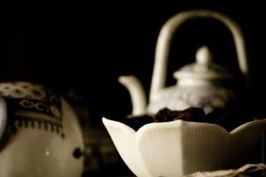 The Petals and the Teapot by MDelicata