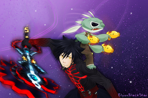 COMMISSION - Vanitas and Experiment 621 by ElyonBlackStar