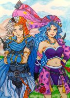 Final Fantasy II: Firion x Leila by dagga19
