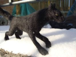 Needle Felted Fenrir by Projectsubvert