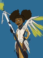 Afro Mercy by The-Art-Stew