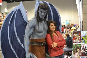 Gargoyles Goliath and Elisa Maza at DCC 2014 4 by PhoenixForce85