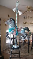 Carousel Horse Lamp - Reckless by Dreamkeepers