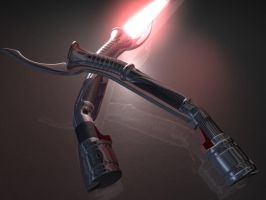 Asajj Ventress's Lightsabers by Puckducker