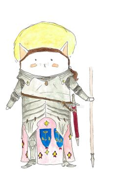 Jeanne d'Arc Fancy Cat by EMGrapes
