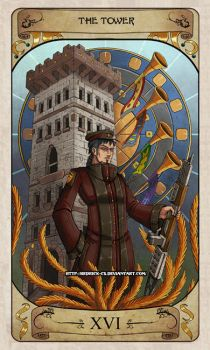 Cerebium Tarot 16 - The Tower by Hedrick-CS