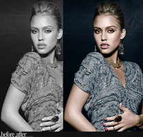 Jessica Alba Colorization by Kuiuky