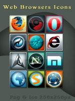 Web Browser Icons by evolution99