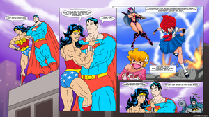Superman And Wonder Woman Sitting in a Tree. by Atariboy2600