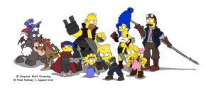 Final Fantasy Simpson complete by LaTopazora