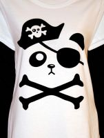 Pirate Panda T-Shirt by rainbowdreamfactory