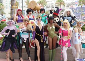 Superhero Disney Princesses 2 at SDCC 2013 by Vampire--Kitten