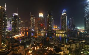 Dubai Marina By Night by simongeddes