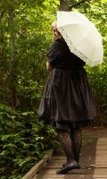 Gothic Girl and her Parasol by libertyroll
