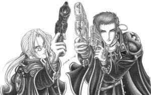 Trinity Blood sketch by Calaverita