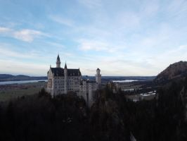 Neuschwanstein from a more far and above view by robbieraeful