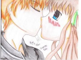 Surprise Kiss Kyo X Tohru Coloured Scan by SamBam2177