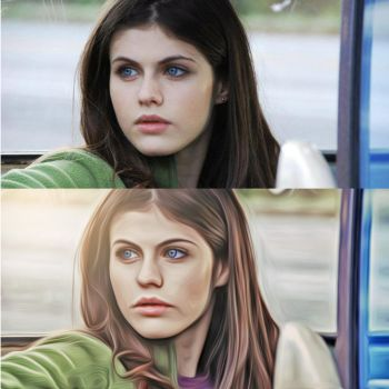 Alexandra Daddario (Before and After) by insidegraphic