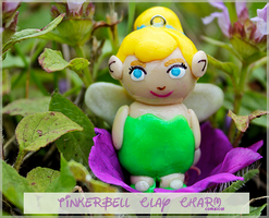 Tinkerbell Clay Charm by Comsical