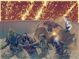 Zombie Bomb 6 Cover in Color by johnraygun