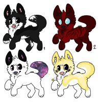 Adoptables by MustachesOnYou
