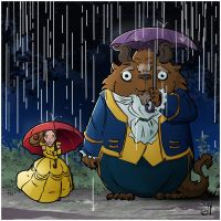 Beauty and the Totoro by SeanLenahanSD