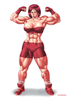Muscular Redhead Girl - Art-trade by sats-VanBrand