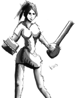 Chainsaw Blower Girl by gonesketchy