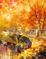 EMBASSY OF AUTUMN by Leonid Afremov by Leonidafremov