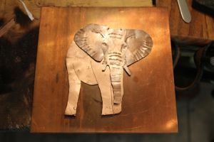 Copper Elephant work in progress (WIP) 1 by connerchristopher