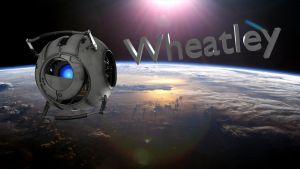 Wheatley In Space Wallpaper by Gonardtron2