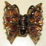 Topaz Butterfly Hair Clip by FantasyStock