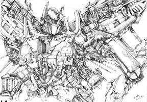 Optimus Prime sketch by Real-V-EAT