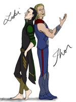 Loki and Thor - Odinsons by illyriablue24